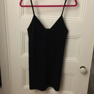 Aritzia Black Suede Shift Dress